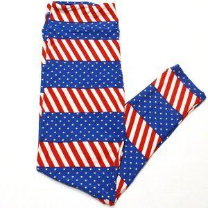 LuLaRoe Red White Blue Stars & Stripes Leggings